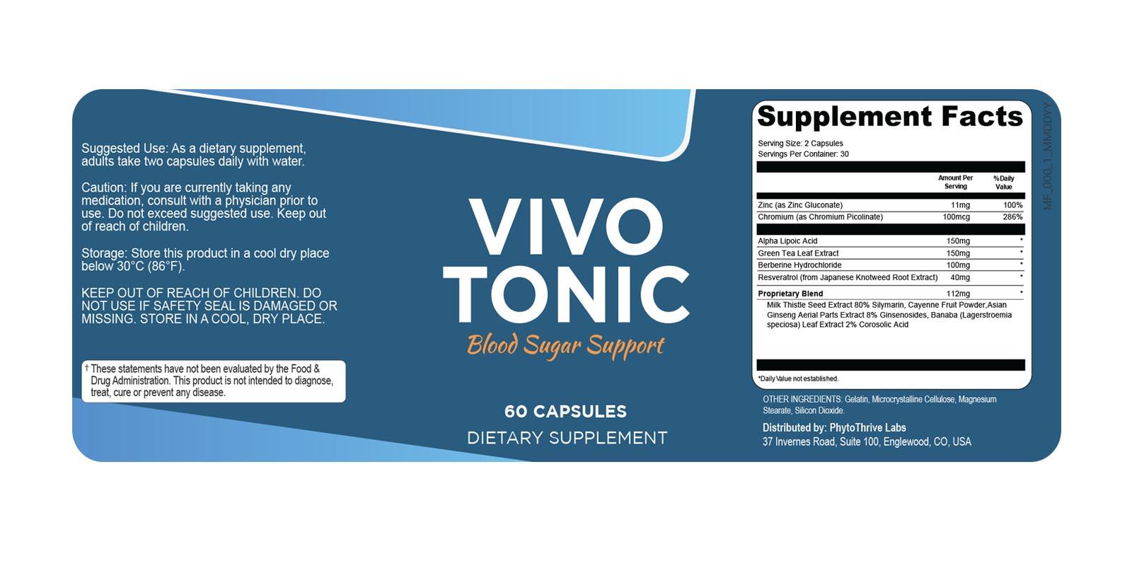 Vivo Tonic Supplement Dosage
