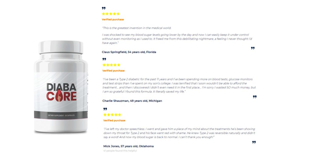 Diabacore Customer Reviews
